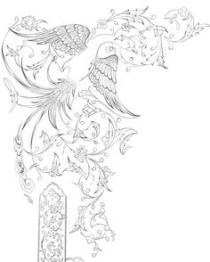 سیاه قلم ( برای اجرای تشعیر) Islamic Art Pattern, Pattern Art, Drawing Stencils, Turkish Pattern, Persian Motifs, Iranian Art, Creative Embroidery, Islamic Calligraphy, Fabric Painting