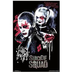 DC Comics Suicide Squad Twisted Love Poster Hot Topic (8.43 AUD) ❤ liked on Polyvore featuring home, home decor, wall art and dc comics poster