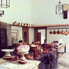 The Kitchen, Saltram House. Impressive is the Great Kitchen, with its original 18th century tools and furnishings.
