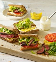 Grilled Steak Sandwiches | Recipe from The Skinnytaste Cookbook: Light on Calories, Big on Flavor by Gina Homolka