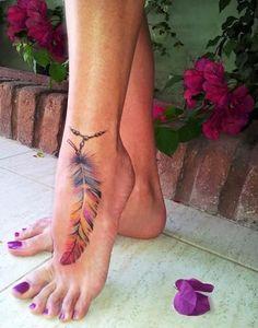 Pretty feather tattoo