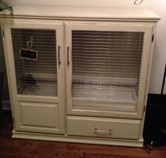 Bird Cage or Aviary out of an entertainment center.....work but worth it!!!!