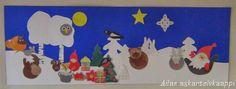 Meidän ryhmässämme oli tänä vuonna satukalenteri nimeltä: Joulusatu Joulu Metsänväelle.   Hahmot on askarreltu jo edellisvuonna toisessa...