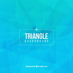 Niebieski trójkąt tła Darmowych Wektorów