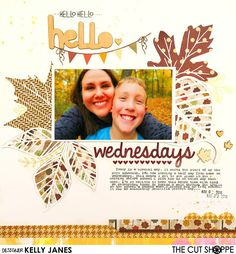 The Cut Shoppe Fall Themed Layout using the Leaf It To Me Cut File, Simple Stories, and Pretty Little Studio Collection, Oakley Avenue, designed by Ashley Horton