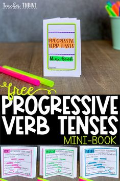 Teaching progressive verb tenses using timelines. Fourth grade teachers, you will love this. Free mini-book and anchor chart example included. Teaching Verbs, Teaching Language Arts, Teaching Reading, 4th Grade Writing, Fourth Grade, Free Teaching Resources, Teaching Ideas, Verb Tenses, Grammar Tenses