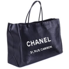 Chanel Bags Chanel Rue Cambon Tote ($2,300) ❤ liked on Polyvore featuring bags, handbags, tote bags, fillers, accessories, zip top leather tote, shopping tote, leather tote, chanel handbags and leather handbag tote