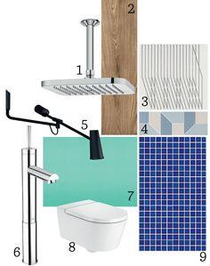 Banheiros contemporâneos com cara de spa (Foto: Divulgação)  Chuveiro Fiji, vaso sanitário da ROCA,  silestone na Consentino Sao Paulo Center