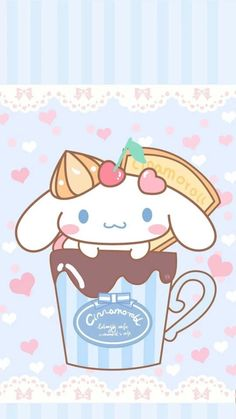 """""""My hot chocolate is keeping so warm"""", as courtesy of Sanrio"""