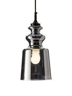www.myhabit.com : Contardi Cornelia SO Pendant Lamp, Black/Chrome Ornate blown glass style shade designed by Massimiliano Raggi; hardwired with a 7' fabric cord, requires a 100 watt max type A bulb