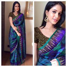 Lavanya Tripathi New Saree Stills