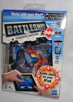 NEW! Hasbro Battleship Zapped Movie Edition Ipad Game  #Hasbro