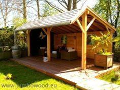 I would like this in my backyard incorporated with the wood storage