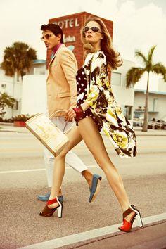 Retro Vogue summer fashion. Ah I want this framed!