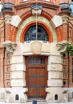 Barcelona, Spain;  Amazing entranceway - definitely over the top, but I want to go inside!