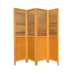 Oriental Furniture Screen:  ft.  Beadboard Divider - Honey (305 CAD) ❤ liked on Polyvore featuring home, home decor, panel screens and honey