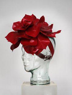 Atsuko Kudo red latex Rose Hat