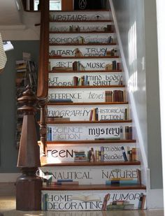 Painted Stairs http://inspirationgreen.com/assets/images/Blog-Building/Stairways/painted%2520staircase%2520words.JPG