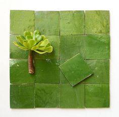 so fresh und gutgelaunt: apfelgrün für den Küchenspiegel oder fürs Bad Traditional Tile, Bad, Morocco, Herbs, Apple, Herb, Medicinal Plants