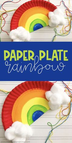 Paper Plate Rainbow Craft for Toddlers and Preschoolers Paper plate rainbow craft for toddlers and preschooler. Paper plate crafts for Spring. The post Paper Plate Rainbow Craft for Toddlers and Preschoolers appeared first on Welcome! Kids Crafts, Paper Plate Crafts For Kids, Daycare Crafts, Crafts For Girls, Toddler Crafts, Creative Crafts, Preschool Crafts, Easter Crafts, Diy And Crafts