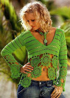 Cute Crochet Boho Top: Charts