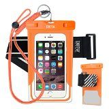 EOTW Waterproof Cell Phone Case Dry Bag Pouch Pocket With Armband Case For iPhone 6 6S Plus 5S SE Samsung Galaxy S4 S5 S6 S7 Edge Note 5 LG G3 G4 G5 HTC One Blu Lumia Moto For Diving Surfing  Orange
