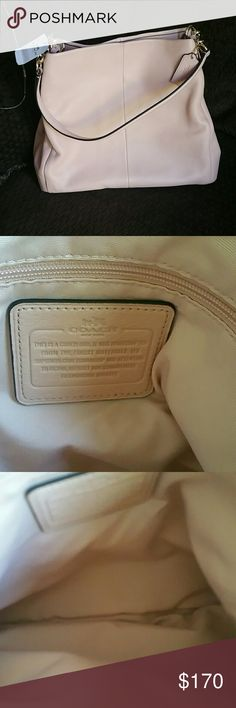 COACH Handbag Authentic Coach. Nude/Pink/light pink. Only selling as this was a gift and I have my eye on another Coach bag thar I have had my eye on for awhile. Coach Bags Satchels