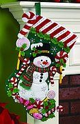 Felt Applique Christmas Stockings and Ornaments