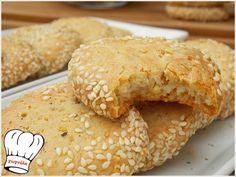 Bagel, Biscotti, Feta, Food To Make, Cooking Recipes, Pie, Bread, Snacks, Cookies