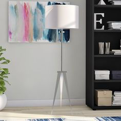 Latitude Run Dawes 58 Tripod Floor Lamp Tree Floor Lamp, Swing Arm Floor Lamp, Arc Floor Lamps, Modern Floor Lamps, Cool Floor Lamps, Traditional Floor Lamps, Torchiere Floor Lamp, Tripod Lamp, Contemporary Interior