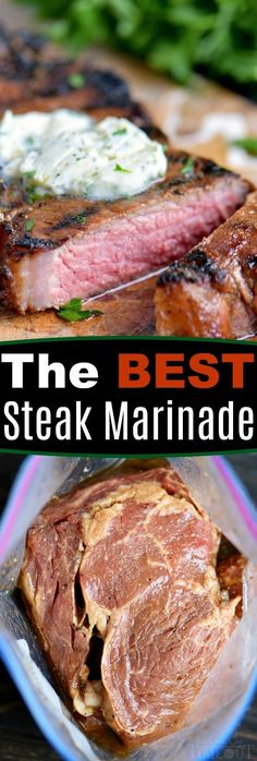 Get ready for The BEST Steak Marinade ever! Turn an every day meal into a special occasion with this easy marinade! Tender, juicy, flavorful steaks that are impossible to resist! // Mom On Timeout