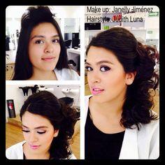 PEINADO  CON EL CABELLO MEDIO RECOGIDO SE VE PRECIOSO! TODO ESTO PARA DARLE VIDA A TU LOOK. Citas 58-58-55-08  #vellesasalon #judithluna #janelly #luzma #makeup #hair #cortes #peinados #maquillajes