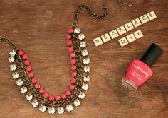 necklace diy- I did this to one of my necklaces and I always get people asking me about it!