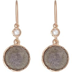 Irene Neuwirth Women's Gemstone Double-Drop Earrings ($1,940) ❤ liked on Polyvore featuring jewelry, earrings, colorless, 18 karat gold jewelry, irene neuwirth earrings, gem earrings, round earrings and gemstone drop earrings