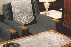 Tapete y cubierta de sillón Golondrina