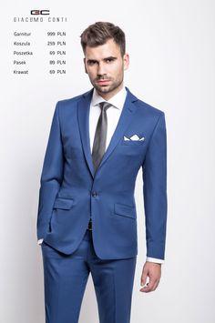 Stylizacja Giacomo Conti: Garnitur Marcus 1 E15/08B, koszula Massimo 15/05/34-K, buty: 1777.