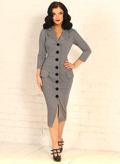 Revere Collar, Wiggle Dress, Mode Vintage, Pencil Dress, Houndstooth, Christian Dior, Collars, Wrap Dress, Vintage Fashion