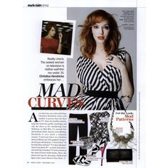 Marie Claire Editorial Mad Curves, November 2009 Shot #1 - MyFDB ❤ liked on Polyvore featuring christina hendricks and editorials