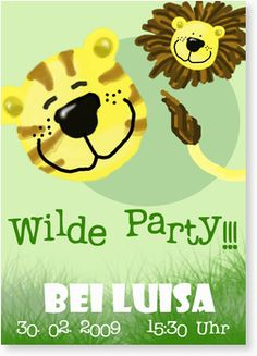 Kindergeburtstagseinladung - Wilde Party