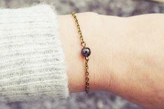 Bronze Chain Bracelet | Hematite Bracelet | Single Stone Bracelet | Gemstone Bracelet | Natural Healing Stone Bracelet Hematite Bracelet, Stone Bracelet, Simple Bracelets, Handmade Bracelets, Be Your Own Kind Of Beautiful, Healing Stones, Natural Healing, Bronze, Gemstones