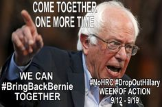 #BringBernieBack @GottaBernNow  2h2 hours ago Even if our hashtag is blocked, we never give up! Somehow, someway we will #BringBernieBack! We need & deserve him.