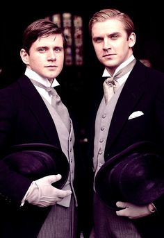 Mathew Crawley and Tom Branson downton abbey is an amazing production with a very nice new actors, they will make they way with they talent!