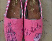 Paris Theme Custom TOMS Shoes - ADULT