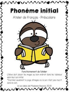 Les idées de Mme Roxane!: Le phonème initial Montessori Elementary, Elementary Schools, Sons Initiaux, Read Letters, Kids Learning Activities, Phonemic Awareness, France, Word Games, Grade 1