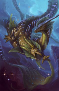 Buy prints or high-resolution image file of 2013 Zodiac Dragon Pisces by SixthLeafClover. Part of the 2013 Zodiac Dragons Calendar collection. Mythological Creatures, Fantasy Creatures, Mythical Creatures, Sea Creatures, Fantasy Dragon, Dragon Art, Fantasy Art, Dragons 3, Dragon Zodiac