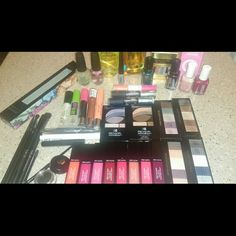 Makeup bundle Never used. All revlon,essie,MUA brushes brand new,Loreal gel lauque,essie treatment,argan oil, biotin collagen mist,revlon nail art,No7 lash brown perfector Maybelline master kajal,Rimmel london,covergirl lip perfection,opi base coat,nail envy strenghthenermaybelline great lash,maybelline waterproof liquid eyeliner, revlon custom eyes,revlon colorstay moisture stain,No7 radiant glow conceler. Offers are accepted also can be sold seperately.?? Accessories