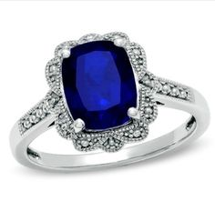 I would love something non traditional like this ring as an engagement ring.  Love the look of the vintage sapphire engagement ring