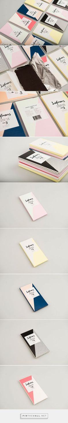 Löfmans Chocolate (Student Project) on Packaging of the World - Creative Package Design Gallery. Graphic Design Branding, Label Design, Identity Design, Package Design, Packaging Box, Print Packaging, Brownie Logo, Packaging Inspiration, Folders