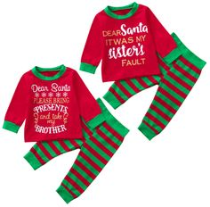 Nice and Naughty Funny Brother sister matching Christmas outfit for family pictures Matching Christmas Outfits, Family Christmas Outfits, Funny Christmas, Christmas Decor, Toddler Christmas Pajamas, Xmas Pajamas, Twin Baby Clothes, Trendy Baby Clothes, Sister Shirts