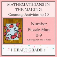 This activity is a perfect way to introduce, practice, and/or reinforce your students counting skills. Counting Activities, Classroom Activities, Special Education Classroom, Math Education, Elementary Education, Third Grade Math, Grade 3, Multiplication Strategies, Puzzle Mat